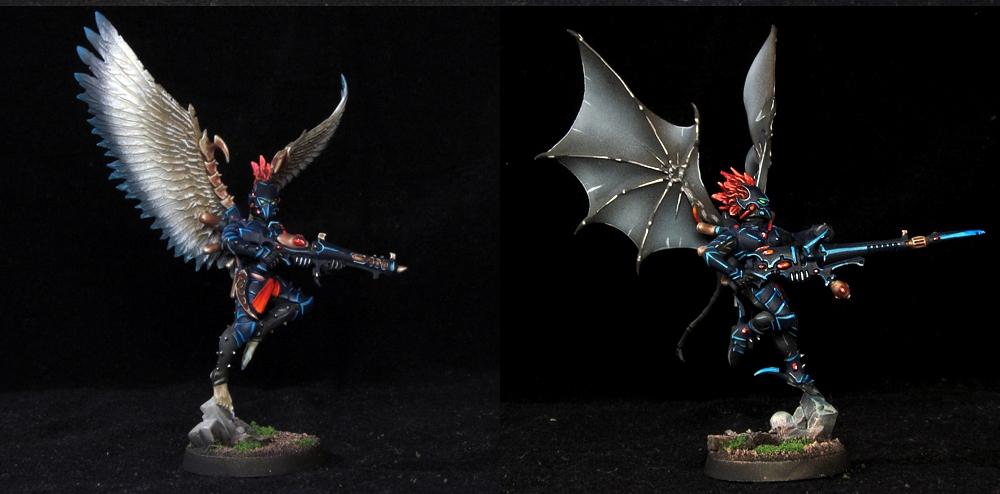 Dark Eldar Scourges http://www.coolminiornot.com/333039